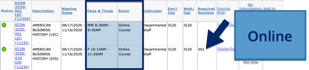 Example of Online Class